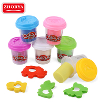 Zhorya 6 colors modelling play crystal playdough clay for kids