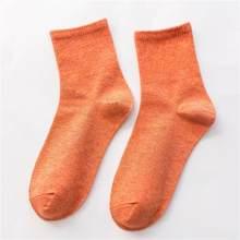 Женские хлопковые носки ярких цветов в Корейском стиле, Осенние однотонные Повседневные носки для студентов, цветные, синие, розовые, желты...(Китай)