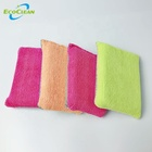 EcoClean Factory BSCI Household Microfiber Cloth non-scratch kitchen Cleaning scrubbing sponge pad