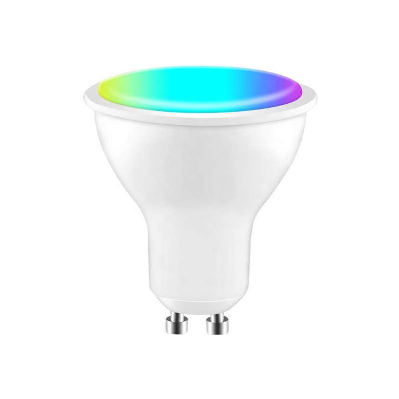 Guangzhou Smart Home Newest Led Aluminum  6w RGBW tuya GU10 GU5.3 E27 cup design  Wifi Smart led ceiling light  Spot Light bulb