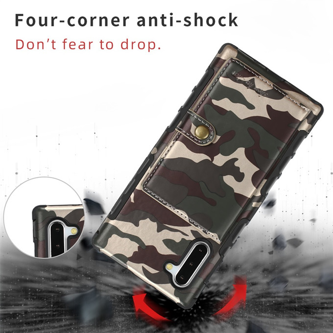 Camouflage Shockproof TPU+Leather Wallet Case for iphone 11/11 Pro/11 Pro Max