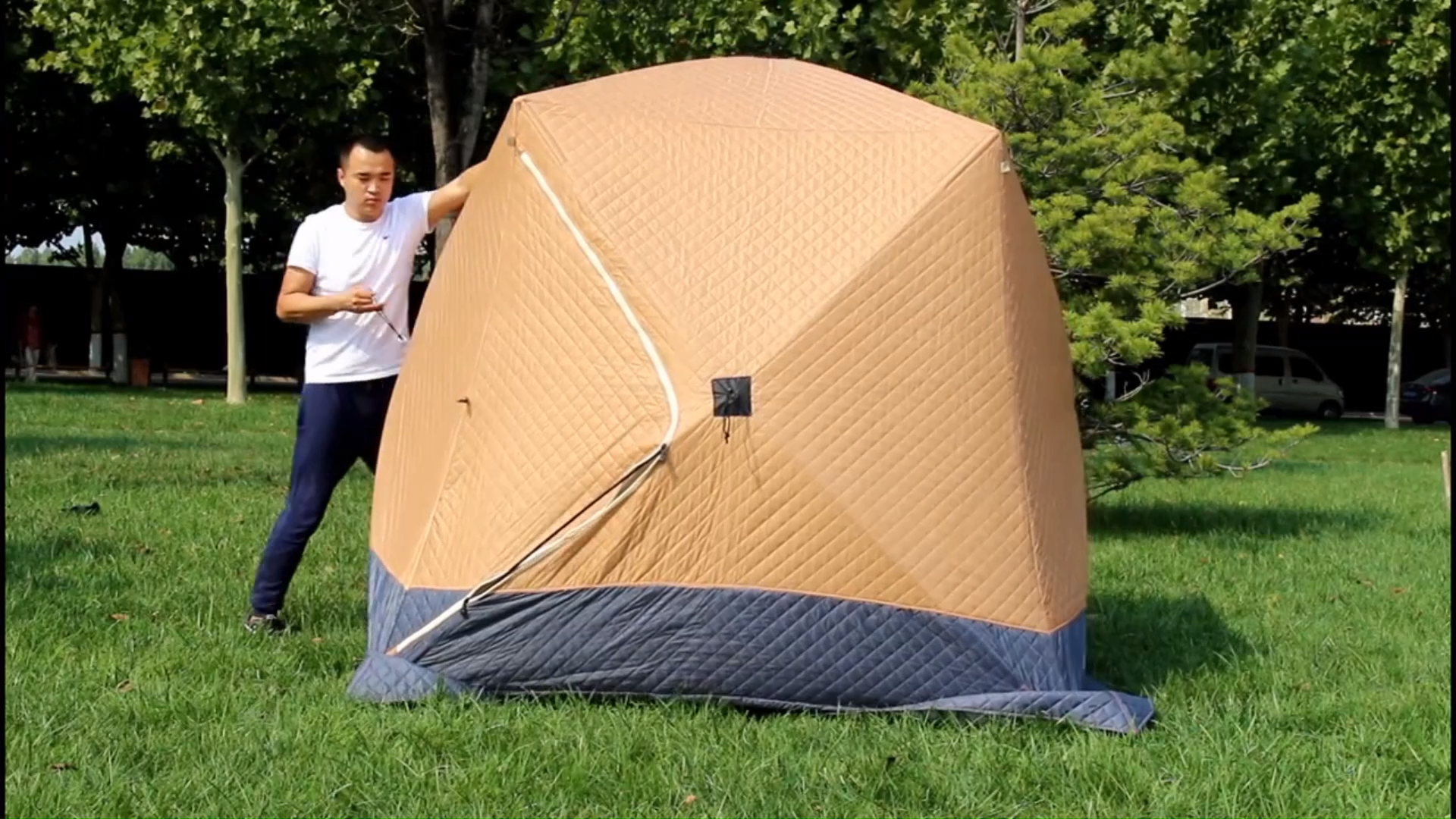 Camping Equipment Outdoor Portable Pop Up Fish Shelter Cube Winter Ice Fishing Tent