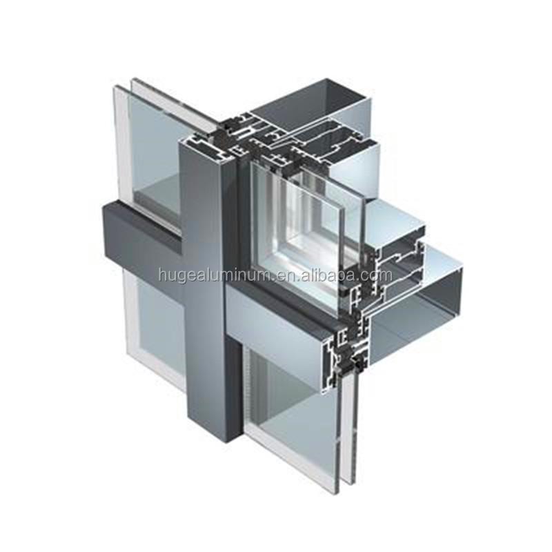 Thermal break aluminum profile glass curtain wall/wall curtain glass