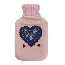Rubber warm water fles warm water fles met knit cover