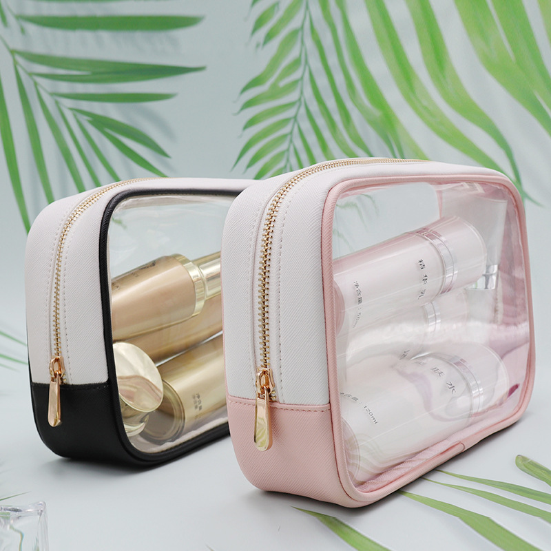 Clear plastic pvc cosmetische travel make-up tas