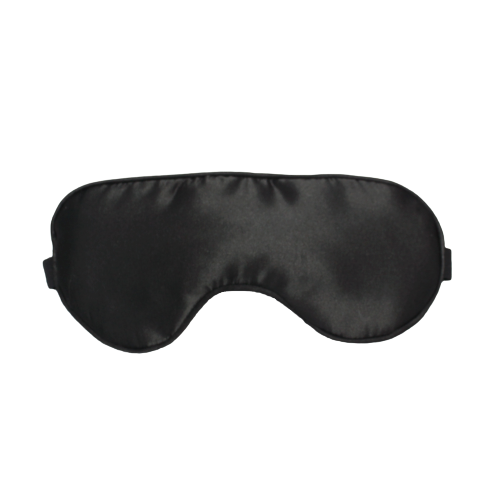 Promo premium new style skin soft comfortable baby dark night light protect breathable elastic  black silk cotton sleep eye mask