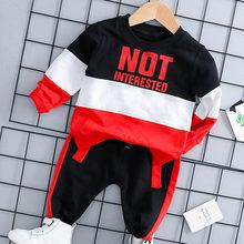 Menoea комплект одежды для маленьких мальчиков и девочек, осенний комплект спортивной одежды с капюшоном, рубашки и штаны для маленьких мальчи...(Китай)