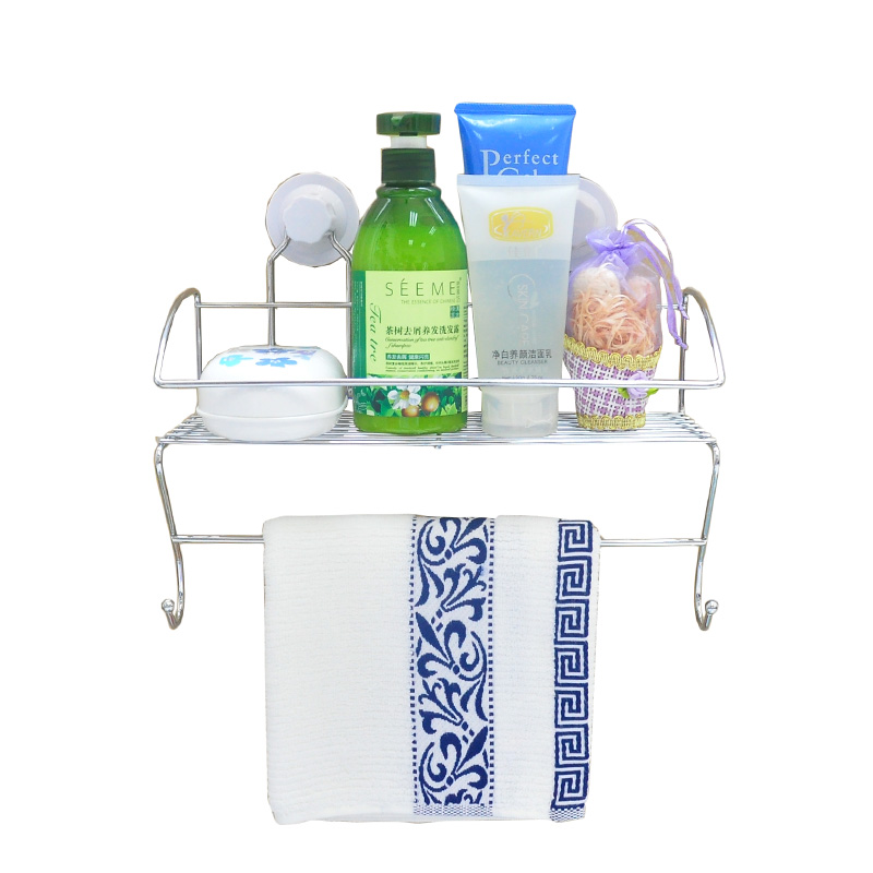sucker hook <strong>basket</strong> with sturdy stainless steel mesh <strong>storage</strong> <strong>basket</strong> <strong>bathroom</strong> kitchen rack chelf