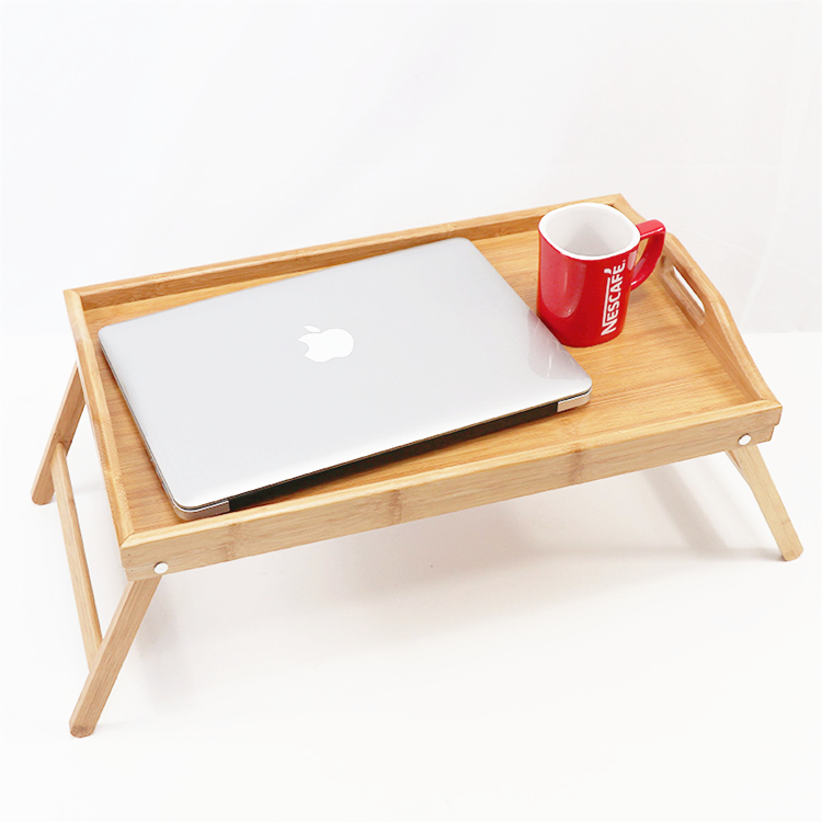 Bamboo breakfast tray bed table laptop bed tray table