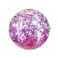 Advertising promotional glitter inflatable beach ball for the water game