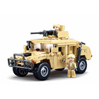 Kit Sluban Building Blocks M38-B0837 Hummer H2 Assault Vehicle 265PCS Army Truck Model Bricks Construction Kit For Kids