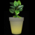 decorative plastic led flower pots battery operated light up big large size led flower pots planters for outdoor garden