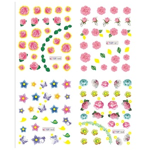 New large ble water decal nail stickers cartoon design nail sticker for nail accessories