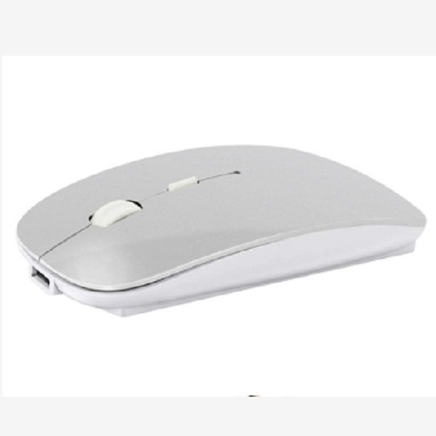 Silent Bluetooth 4.0 Computer <strong>Mouse</strong> Built in Battery <strong>USB</strong> Optical <strong>Mice</strong> Ergonomic for PC[Silver white]