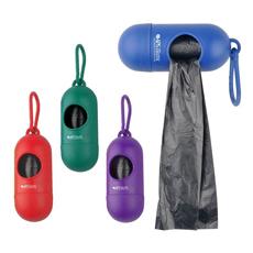 热卖广告标志印刷礼品椭圆形宠物使用环保耐用塑料卷垃圾狗粪袋分配器