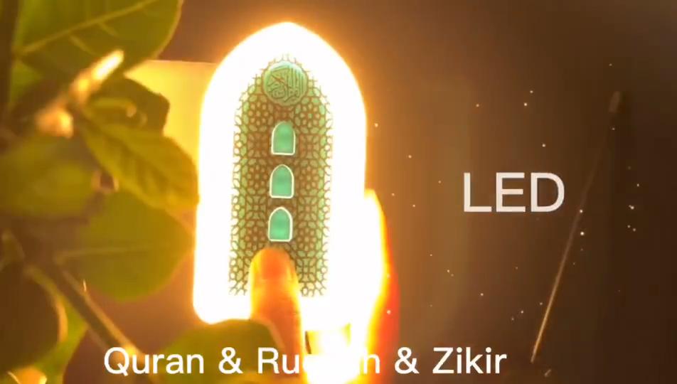 New Hồi Giáo Quran Loa Hồi Giáo Learning Quran Máy Nghe Nhạc Quà Tặng Trăng Đèn USB 16GB LED Ánh Sáng Ban Đêm Hồi Giáo Quà Tặng Cho ramadan