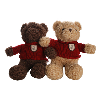 factory price teddy bear toys soft toy teddy bear cute brown coffee mini teddy bear toy