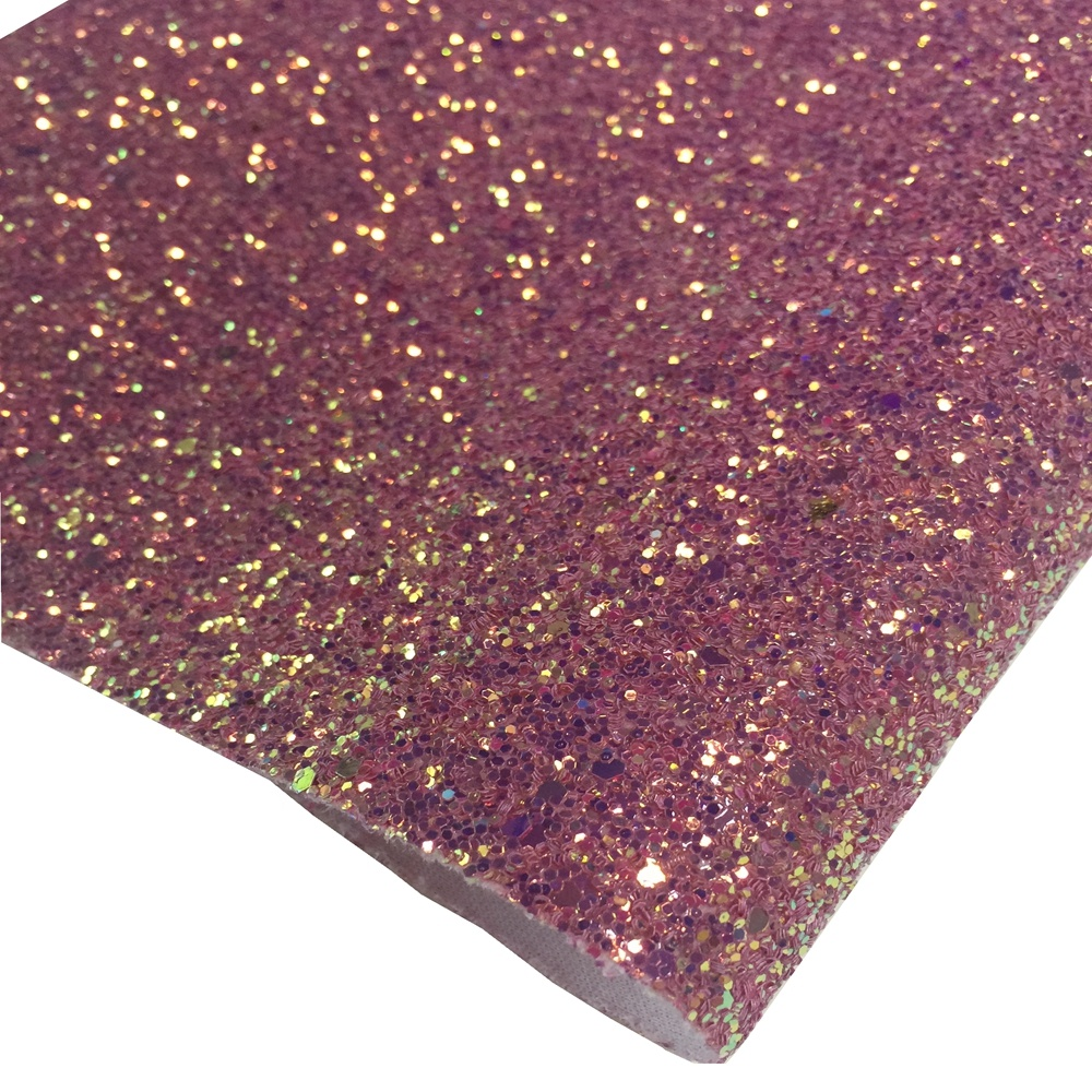 wholesale grade 3 chunky glitter fabric glitter synthetic leather glitter embroidered fabric