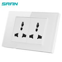 Double power outlet universal type electric wall socket