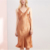 Sexy 100% pure silk women slip dress lady satin nightdress silk nightgown