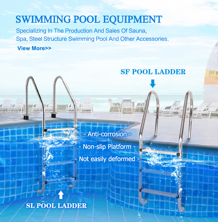 Guangzhou Outdoor Above Ground Superior Stainless Steel  Swimming Pool Folding Ladder For Pool Price