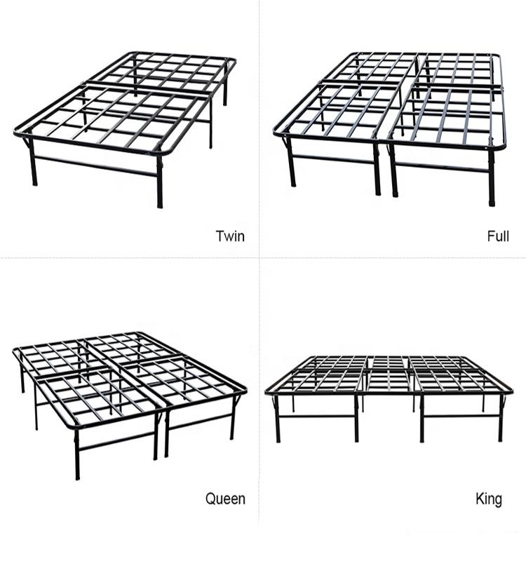 Queen Folding Metal Bed Frame Storage