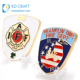 Wholesale custom design metal recessed logo souvenir double sided department firefighter challenge coins no minimum