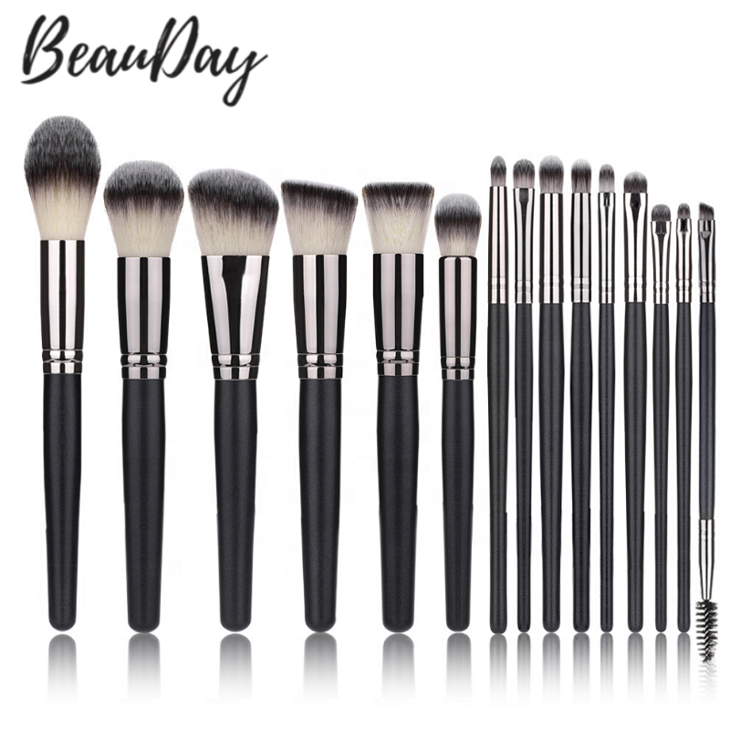 Factory-Wholesale-15pcs-Black-brush-Make