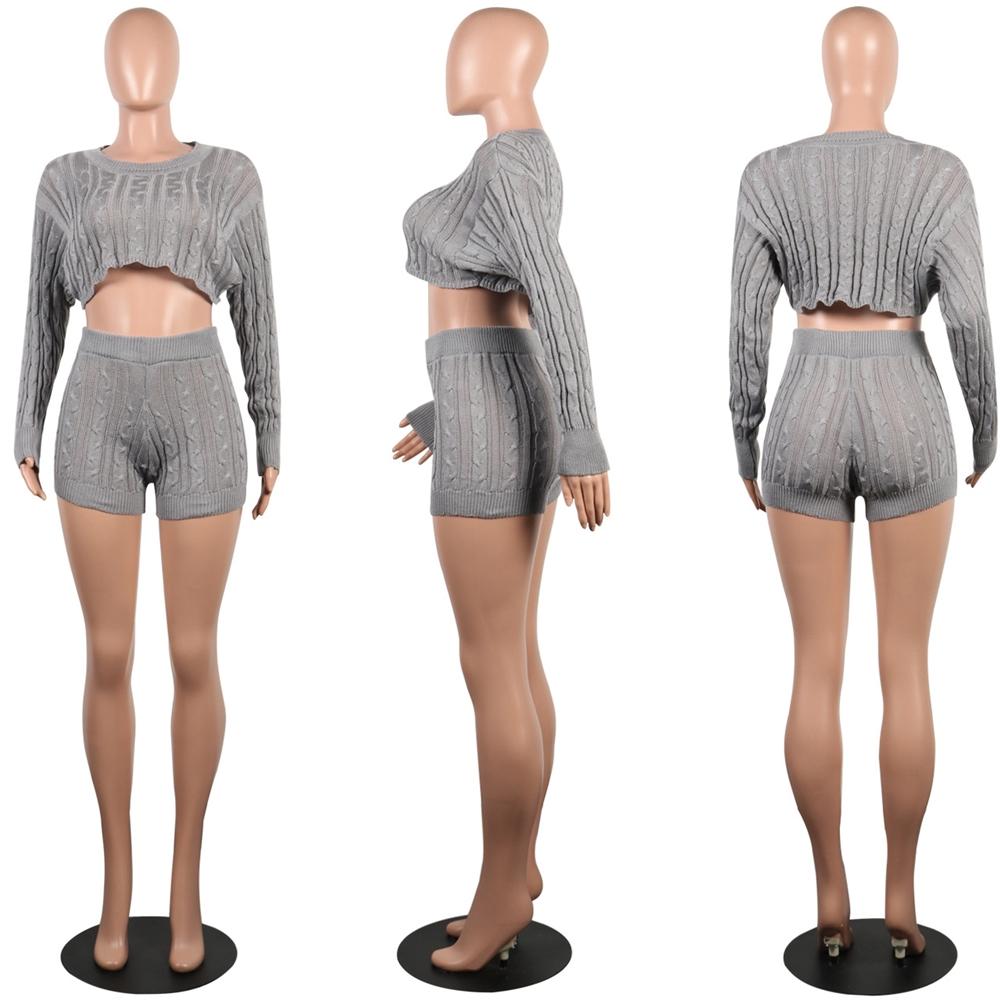 Nuovo Disegno Qzbaoshu 2020 Sexy di Inverno Pullover Della Signora Ha Lavorato a Maglia Pullover Maglione a Due Pezzi Set Abbigliamento Donna