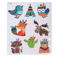 Drop Shipping Rhinestone Self Adhesive Diamond Stickers 5D Diamond Painting Puzzles Animal Sticker For Kids