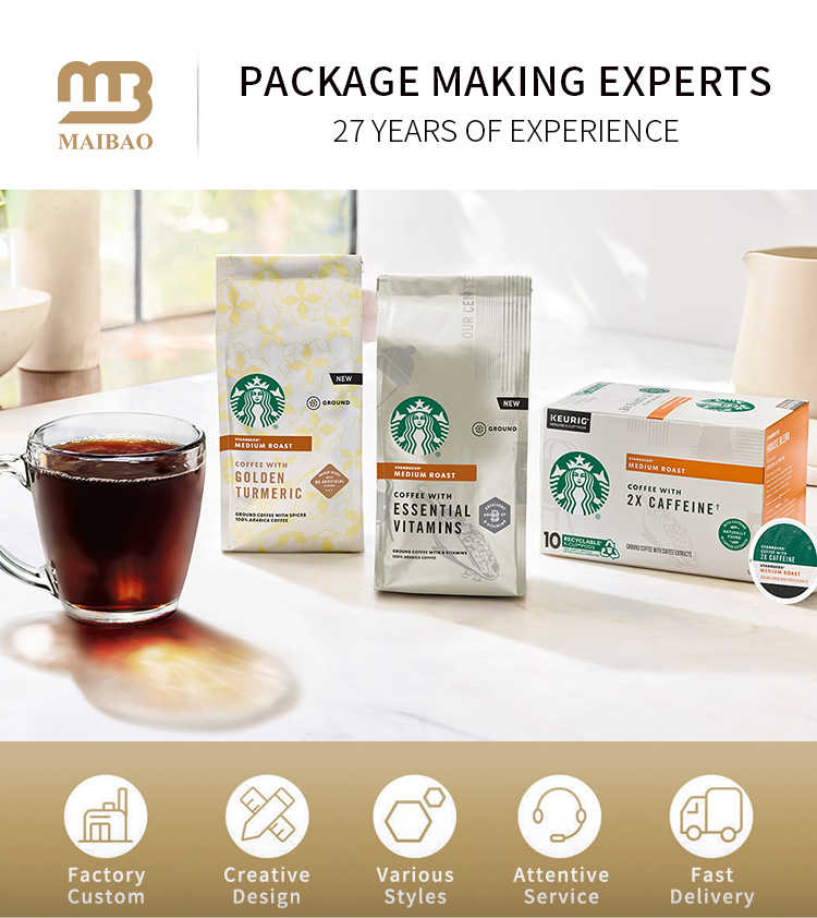 1kg 2kg 5kg 10kg Heat Seal Small Block Bottom Ground 100 Eco Recycled Food Grade Craft Paper Empty Packaging Bag For Coffee Bean