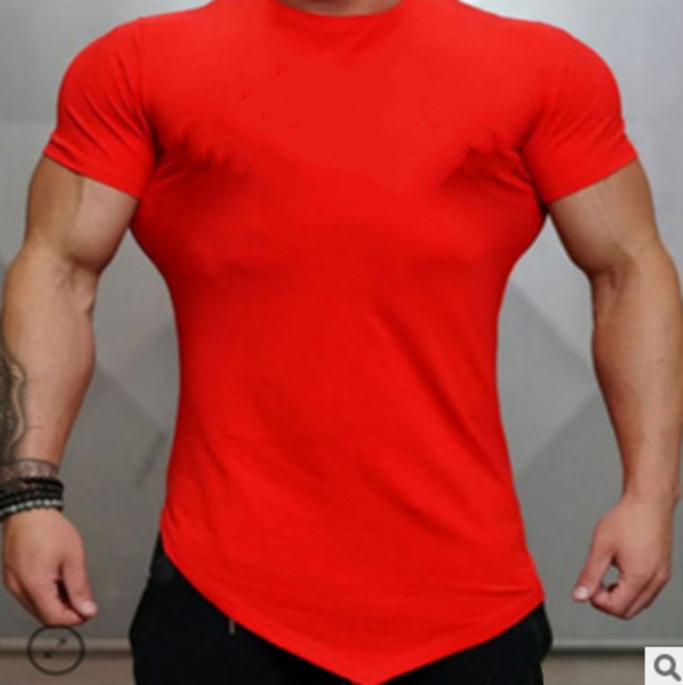 Men  high quality quick dry   Fitness oem logo Printed string gym t-shirt