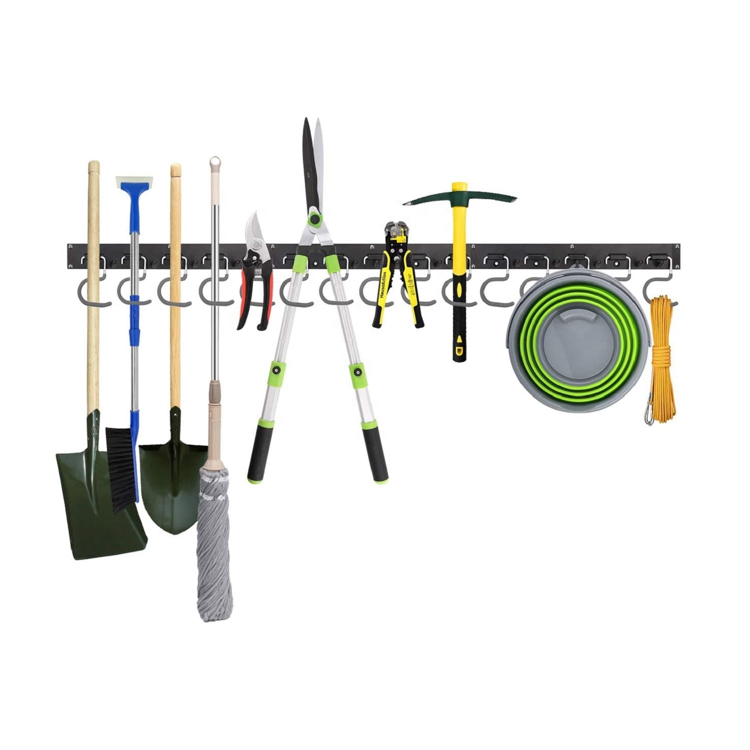 Wall Mount Tool Organizer Garage Hook Garden Tool Bracket Adjustable Storage System 48 Inch Wall <strong>Holders</strong>