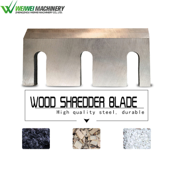 Weiwei MFJ500 moving blades size 120*70*8mm  high speed alloy steel shredder machine parts wood cutting knife