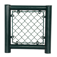 Factory best price pvc coated galvanized black chain link fence