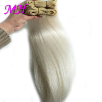 Black White Color Straight Yak Hair Wefts Yak Tail Hair Weaves Cow Hair