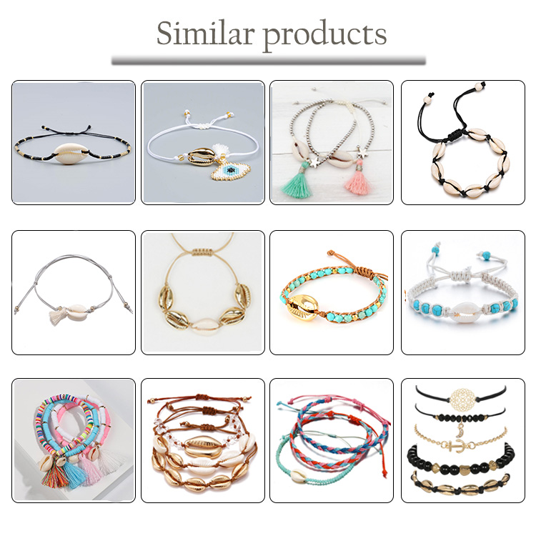 Recycled Plastic Life Transparent Glass Beads Adjustable Cord Beads Wristband Women ocean Bracelet