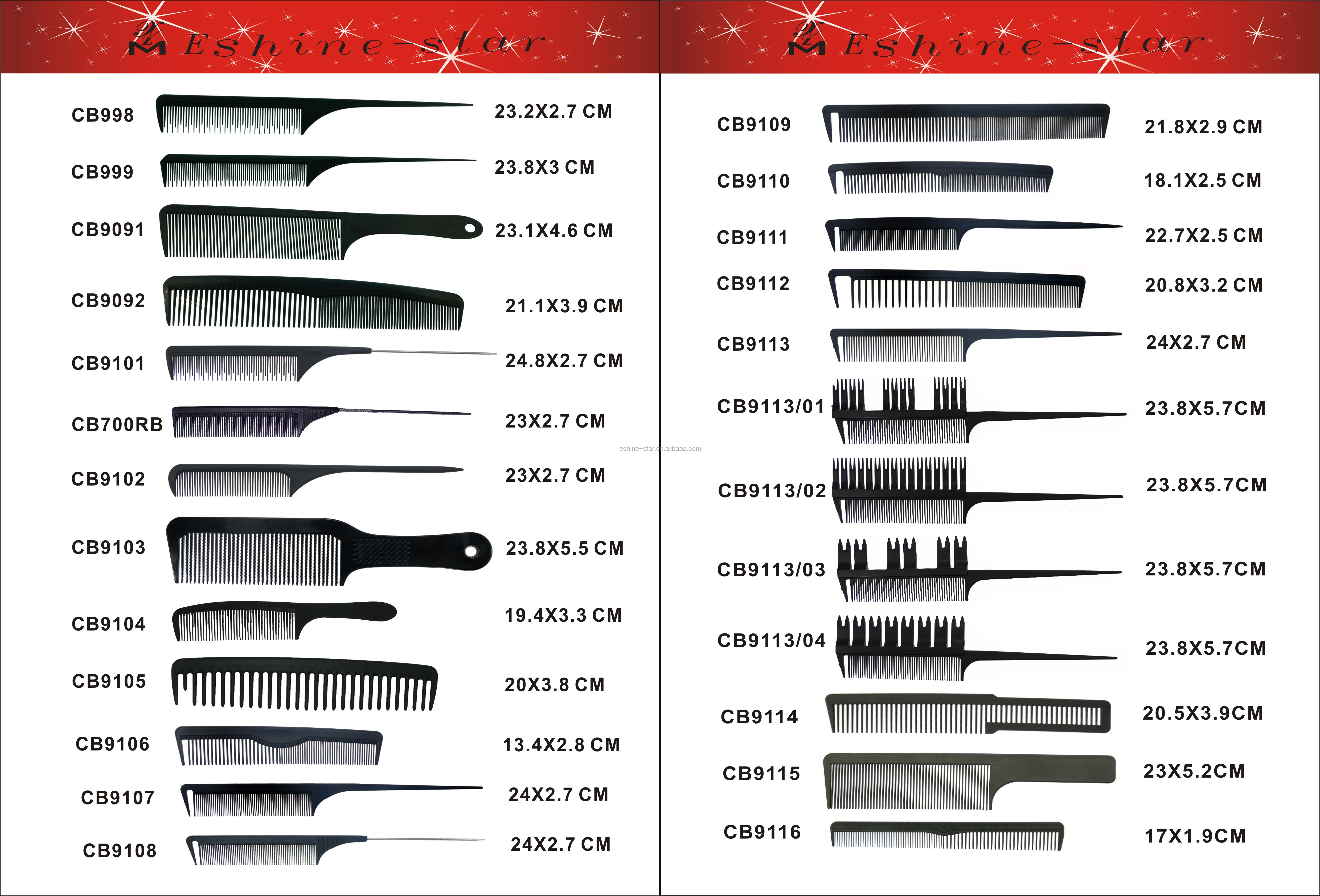 Private logo antistatic professional hot selling product good quality plastic salon rattail carbon long tail comb