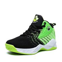 Детские кроссовки; Новинка 2019 года; брендовая Баскетбольная обувь для мальчиков; дышащая сетчатая Спортивная обувь Jordan; нескользящая Молод...(Китай)