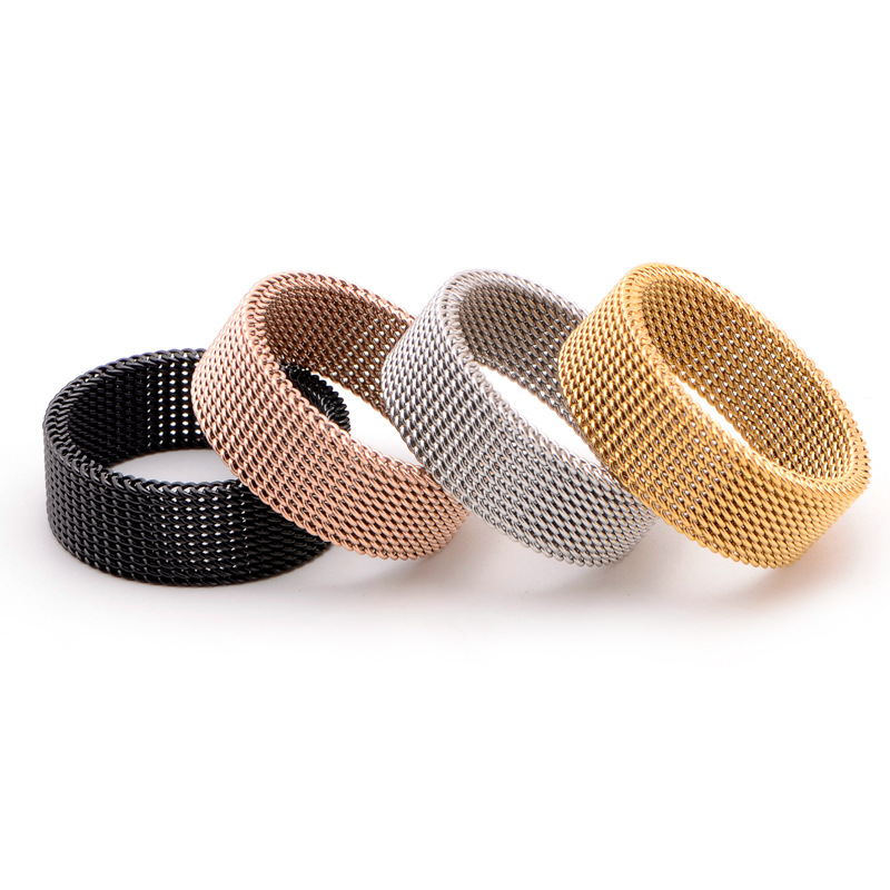 product-BEYALY-Dressy Braided Design Cheap Men Fine Jewelry Mesh Elastic Ring-img