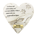 Heart Shaped Pet Memorial Stones,Personalized Dog Memorial Stones Grave Markers,Sympathy Pet Memorial Gifts