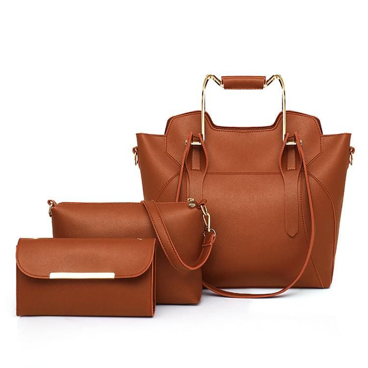 Fashion crossbody bag tote bag set lady leather handbag