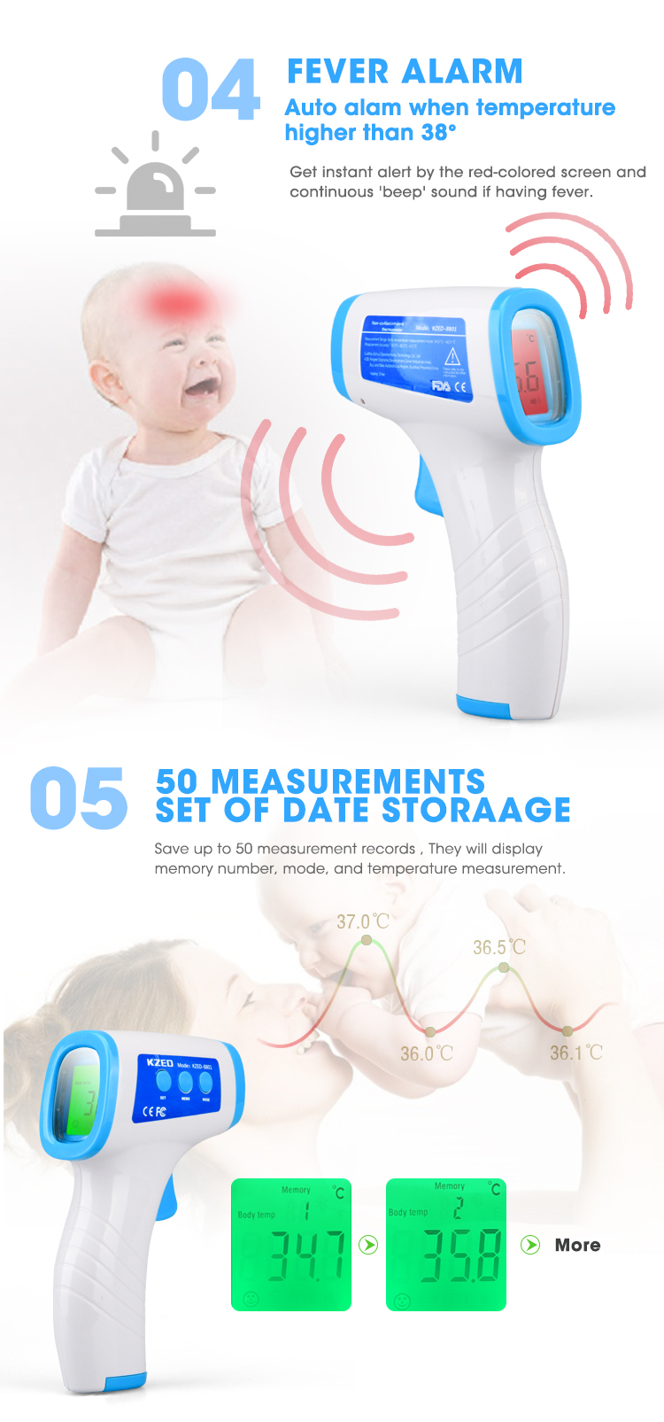 Fast Delivery Smart Adult Electric Termometro Manufacturer Digital Infrared Body Thermometer