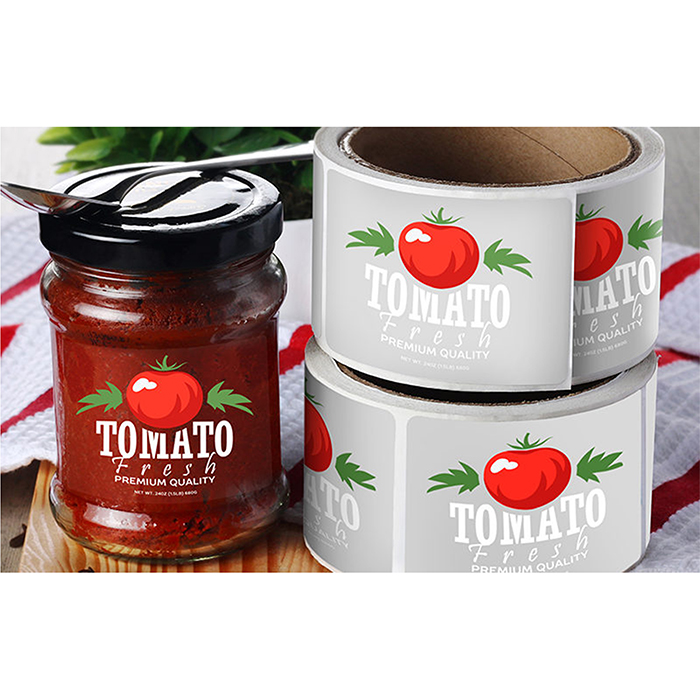 waterproof oil proof glossy digital printing synthetic paper material customised roll sticker etiquette labels for jars