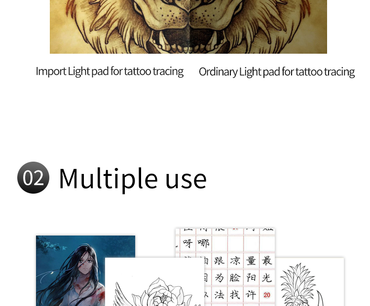 A3 LED Light pad for tattoo tracing