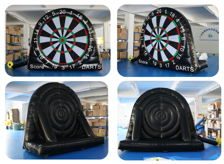 Factory Single Sided 3m High Inflatable Sticky Soccer Game Inflatable Dart Board