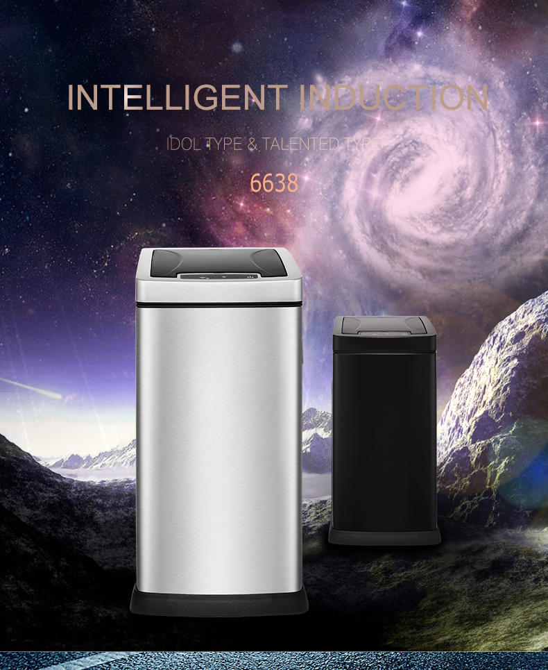 China high quality 8 lite Stainless Steel sensor intelligent trash can