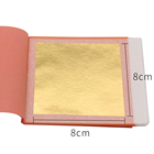 25 pcs Transfer Packing 92% Gold Delicate and Glossy for Skin Care 8X8cm 22K Gold Foil Facial Mask