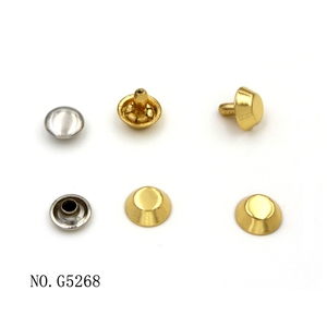 fashion die casting zinc alloy leather rivet fasteners for bags