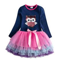 Платье для девочки с мультяшными героями VIKITA, демисезонное платье с единорогом, детская одежда с длинным рукавом(Китай)